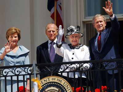 The Queen with George W Bush, 2007