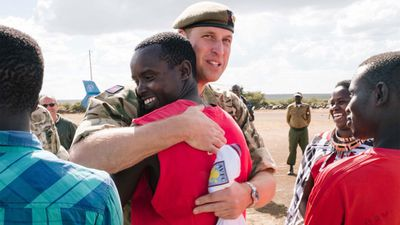 Prince William meets his namesake in Africa