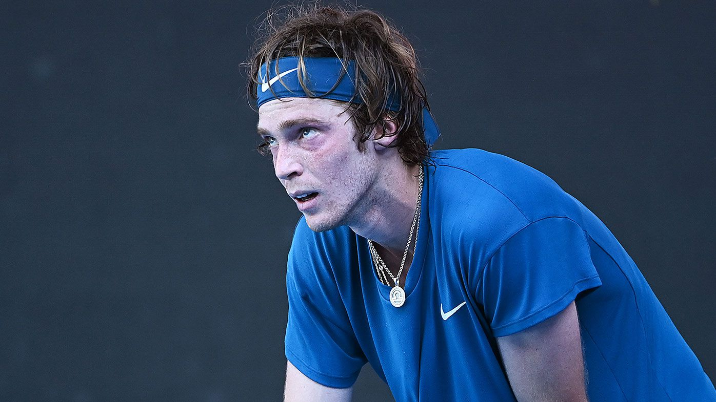 Russian star Andrey Rublev 'looked dead' during exhausting loss to Daniil Medvedev