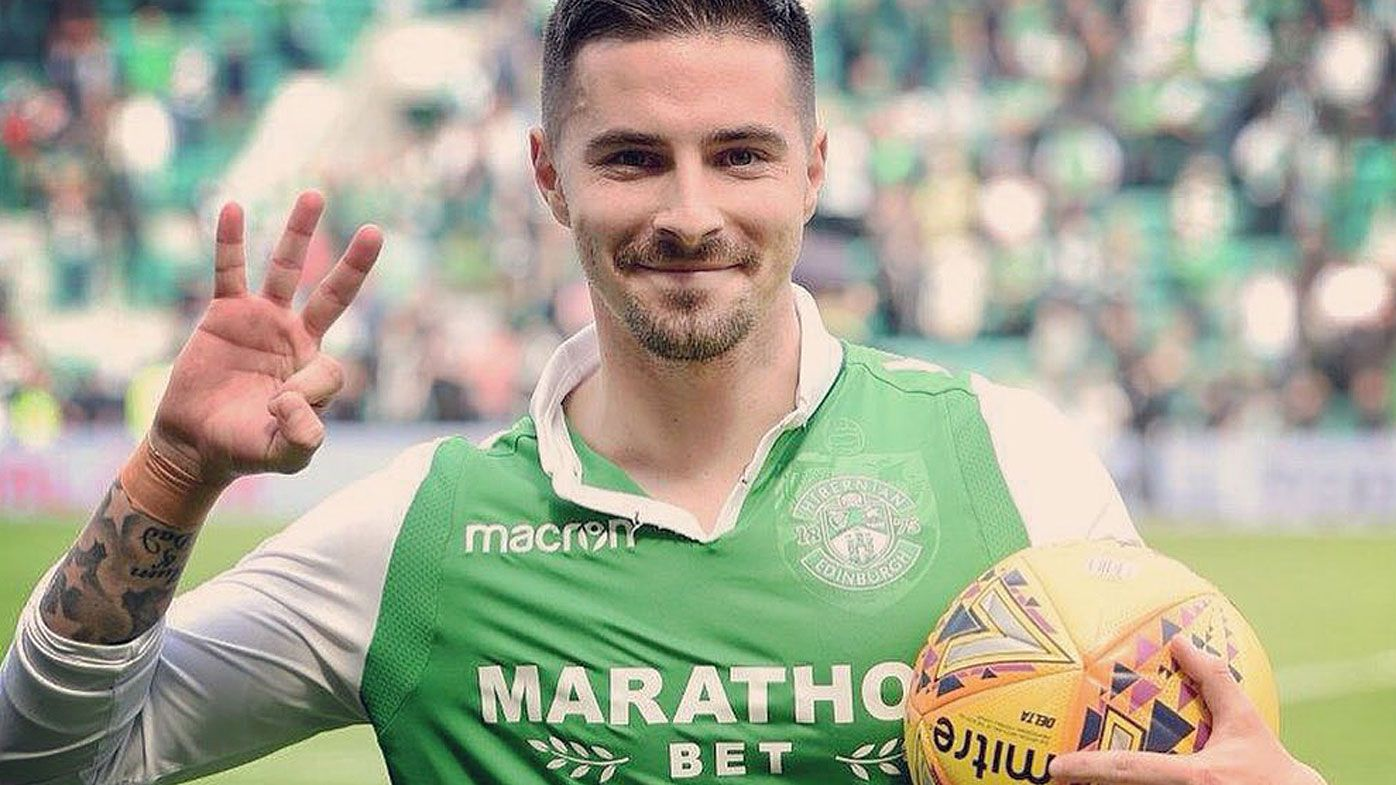 Jamie Maclaren scores Hibernian hat-trick helping push selection for World Cup 2018