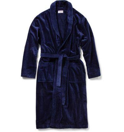 "<p><strong>The cover up&nbsp;</strong></p> <p>Derek Rose robe, $249.95 at<a href=""http://shop.davidjones.com.au/djs/en/davidjones/triton-10-navy-mens-robe"" target=""_blank""> David Jones</a></p>"