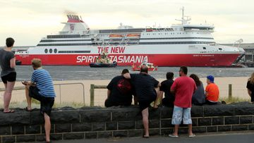The Spirit of Tasmania moored at Port Melbourne.