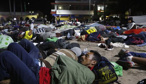 Migrants have said they are fleeing widespread violence, poverty and corruption in Honduras, and want to reach the US.