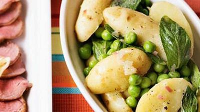 "Recipe: <a href=""http://kitchen.nine.com.au/2016/05/17/12/59/minted-pea-potato-salad"" target=""_top"">Minted pea &amp; potato salad</a><br /> <br />"