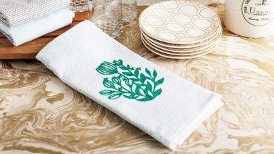 Cricut Joy project floral tea towel