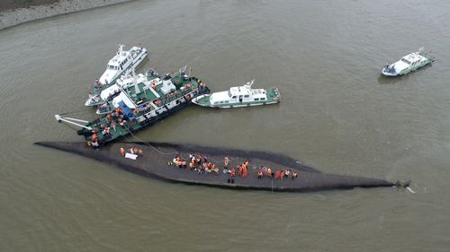 Authorities worked through the night in an effort to rescue any remaining passengers or crew. (Getty Images)