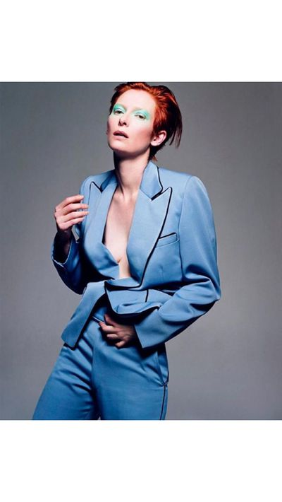 Style director of <em>W Magazine</em>, Edward Enninful, posted this Bowie-inspired image of Tilda Swinton by Craig McDean to Instagram.
