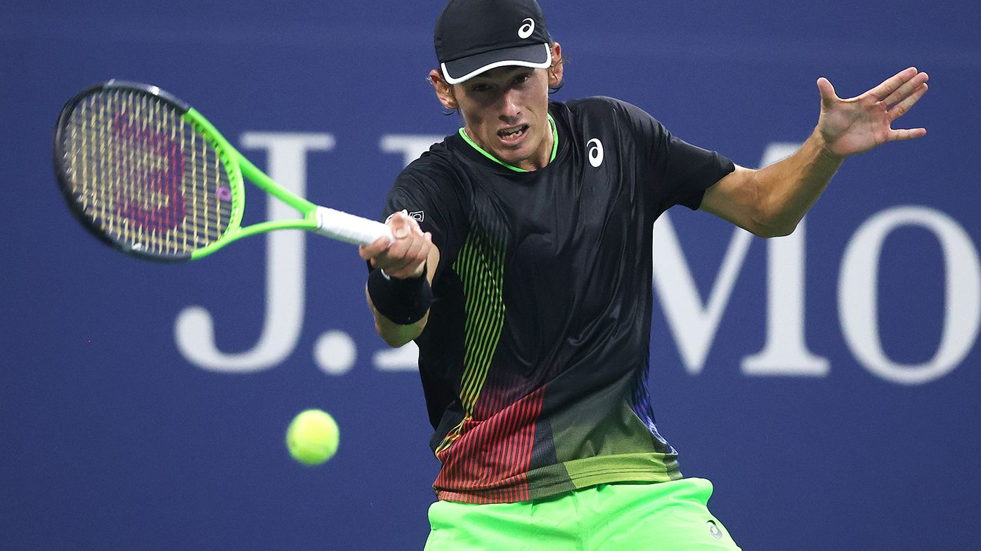 Alex de Minaur is out of the US Open after losing to Taylor Fritz.