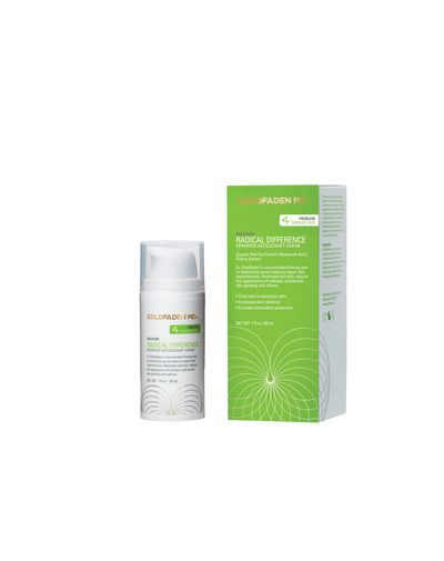 """<a href=""""http://mecca.com.au/goldfaden-md/radical-difference/I-021949.html"""" target=""""_blank"""">Goldfaden MD Radical Difference, $120.</a>"""