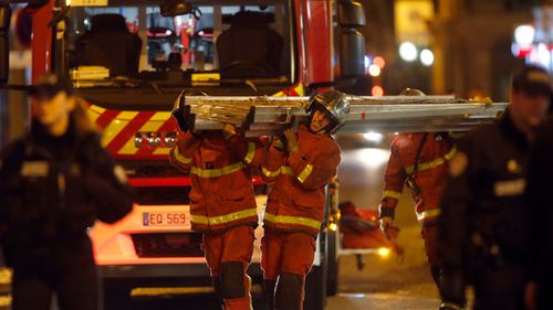 About 200 firefighters attended the blaze in upmarket Paris.