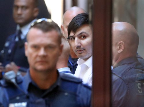 James Gargasoulas leaves the Victorian Supreme Court after sentencing. Gargasoulas killed six people and injured dozens more when he drove into pedestrians in Melbourne's Bourke St.