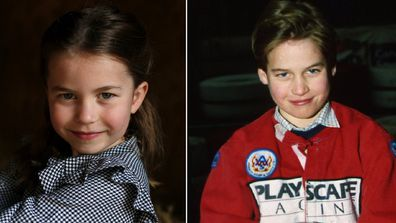 Princess Charlotte and Prince William.