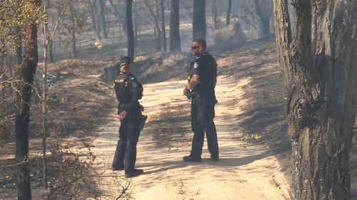 The fire could threaten lives, authorities warned.