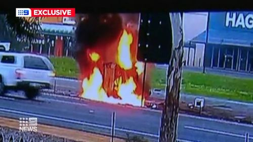 An Adelaide man is lucky to be alive after a horrific crash on one of Adelaide's busiest roads.
