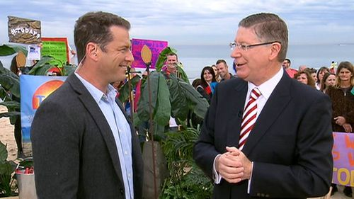 Denis Napthine remains confident amid recent polls reflecting Labor as favoured goverment. (9NEWS)