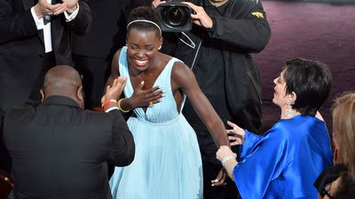 Why did Minnelli grab Lupita Nyong'o after she won the Oscar for Best Supporting Actress? (Getty).