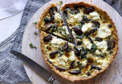 Monday: Spinach, ricotta and mushroom quiche