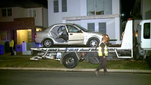 The driver of the Mazda was trapped in the wreckage for about 30 minutes. Picture: 9NEWS