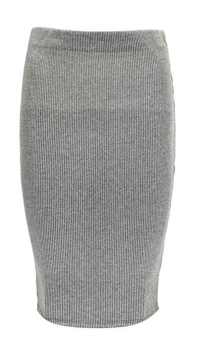 "<a href="" http://www.boohoo.com/day-skirts/ailsa-contrast-knitted-rib-tube-midi-skirt/invt/azz09859""> Ailsa Contrast Knitted Rib Tube Midi Skirt, $20, Boohoo</a>"