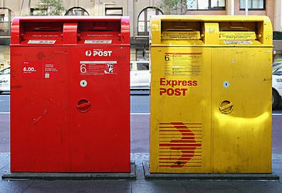 Australia Post boxes (AAP)