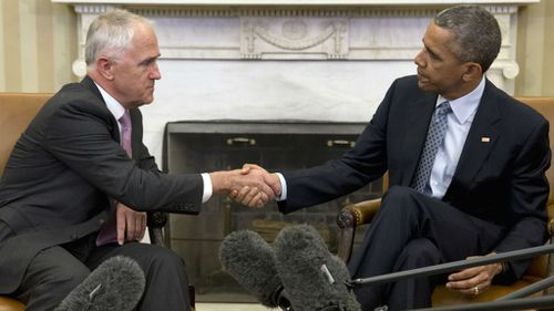 Malcolm Turnbull meets with Barack Obama in the Oval Office. (AAP)