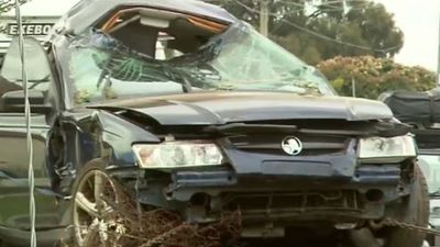 'It's amazing she's alive': Woman thrown 30 metres in crash