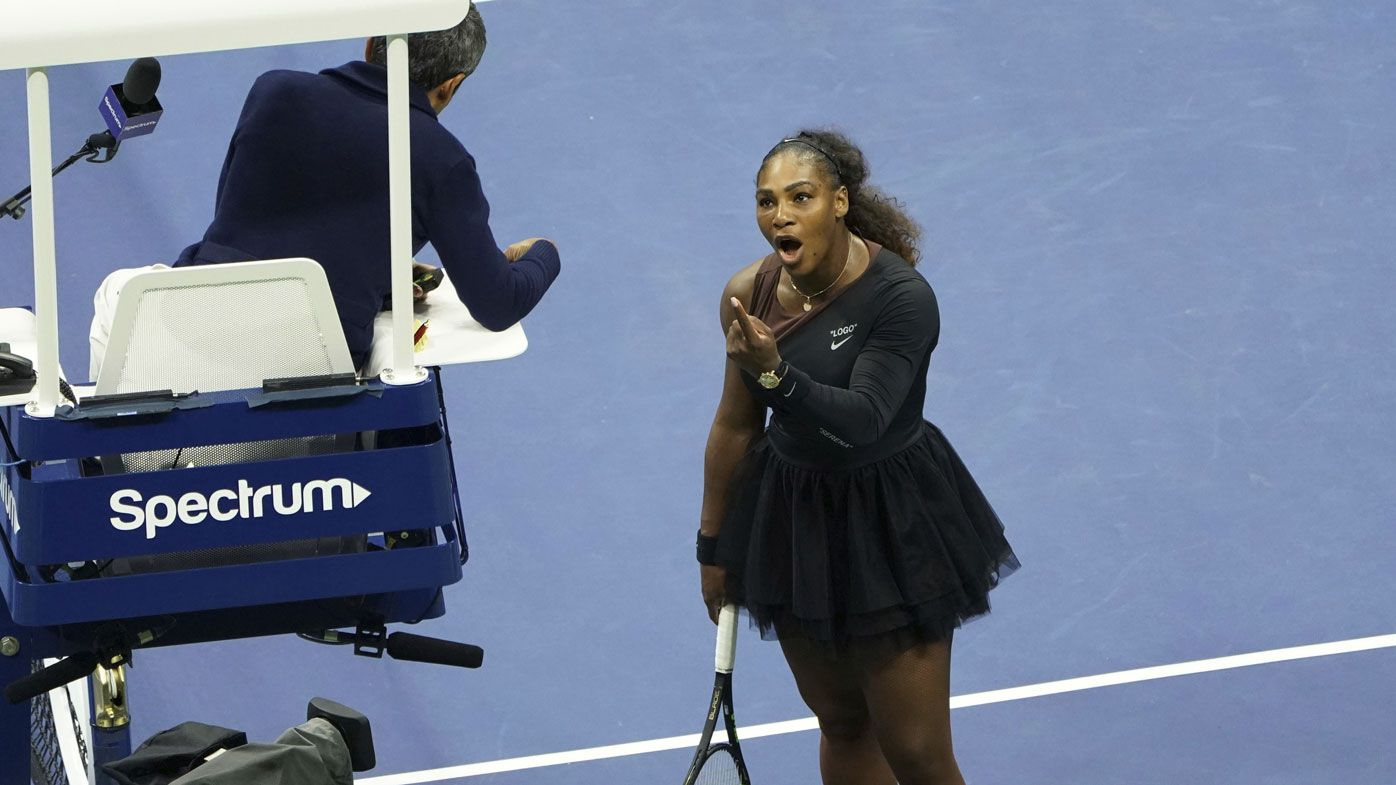 Serena Williams during her US Open meltdown