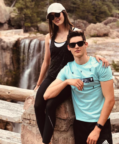 Andrea Meza and Jorge Saenz pictured together in 2019.
