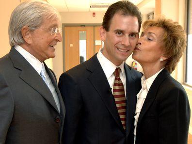 Judy Sheindlin, Jerry Sheindlin, and Judy's son Adam Levy