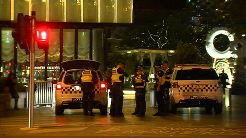 The alleged stabbing happened just after midnight on the Yarra Promenade. (9NEWS)