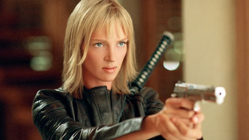 Thurman in Kill Bill, directd by Quentin Tarantino. (AAP)
