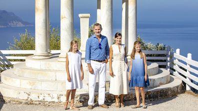 Spanish royals on holidays