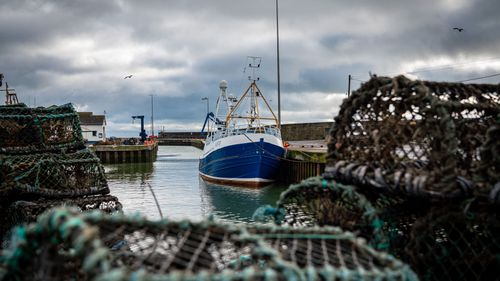 Fishing has become one of the main stumbling blocs in the Brexit negotiations for a new trade deal between the European Union and the United Kingdom. (Photo: Jan. 28, 2020 Kilkeel harbour in Northern Ireland)