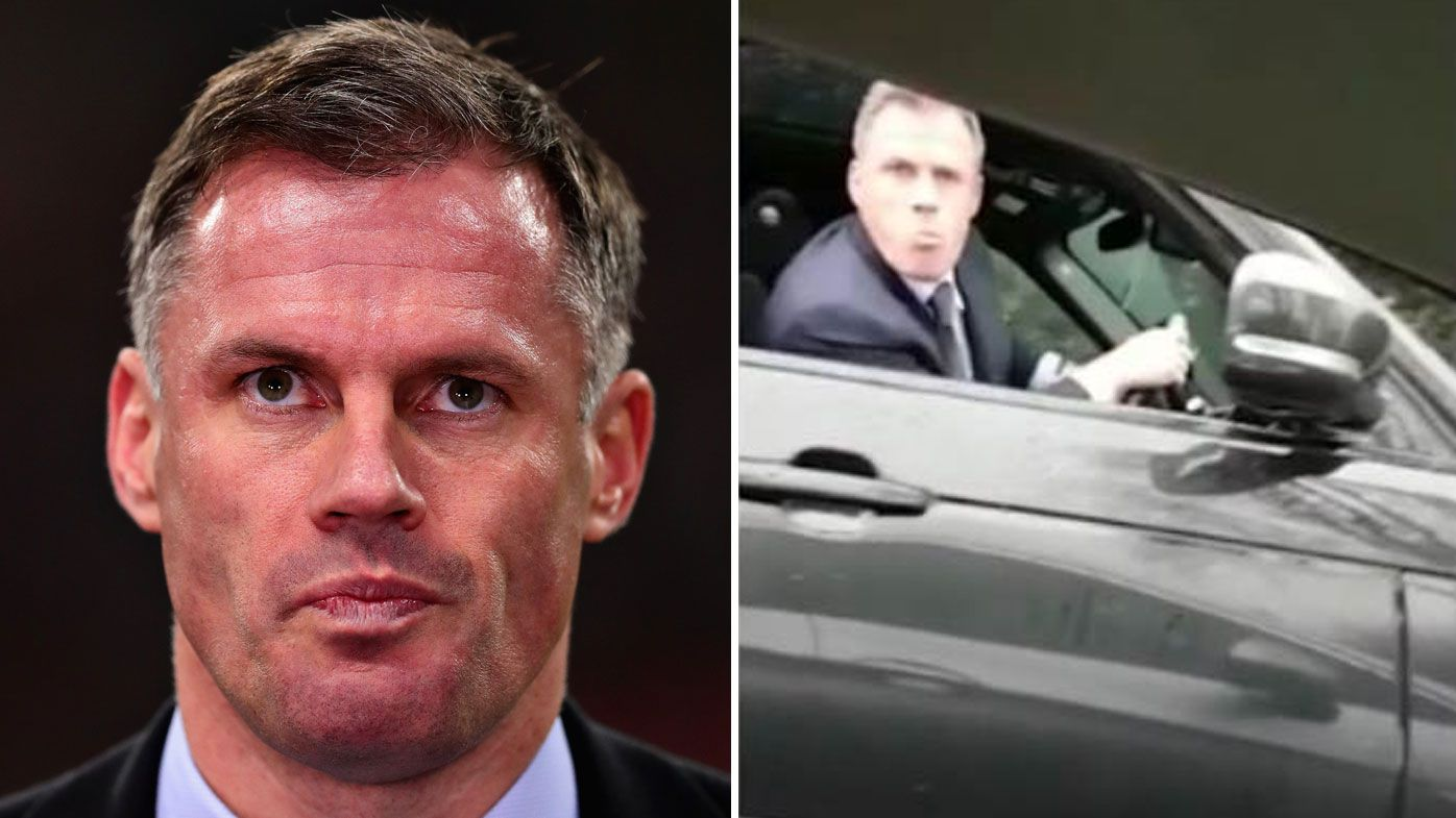 Jamie Carragher apologises for spitting at girl