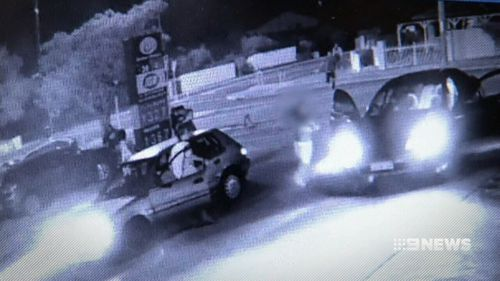 The chase came an end in Como yesterday. (9NEWS)