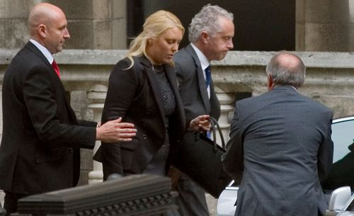 Former radio DJ Mel Greig made a surprise appearance at the inquest into the death of a British nurse. (AAP)