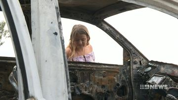 heartless thieves torch young woman's car