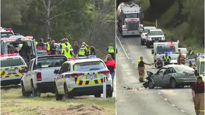 Girl dies and six injured in head-on crash