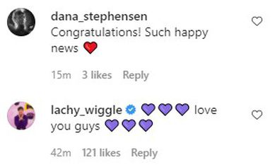 Lachlan Gillespie repsonds to The Wiggles star Emma Watkins' engagement to Oliver Brian.