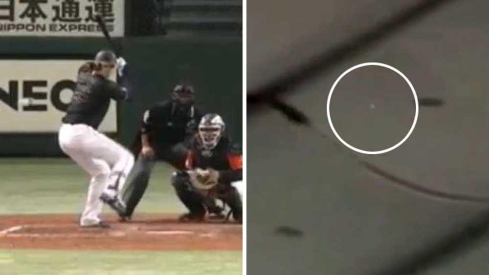 Baseball: Japanese star slams ball through stadium roof