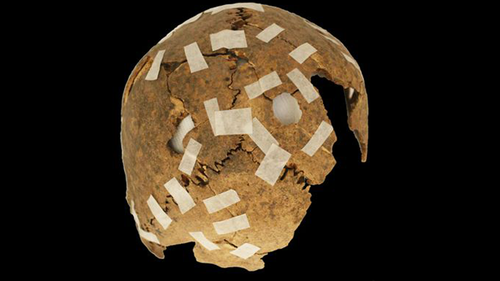 The discovery indicates the skulls were used as a display of power.