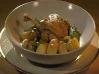 Braised Duck with Turnips and Green Olives