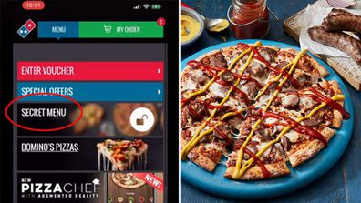 Domino's Sausage Sizzle Pizza and secret menu