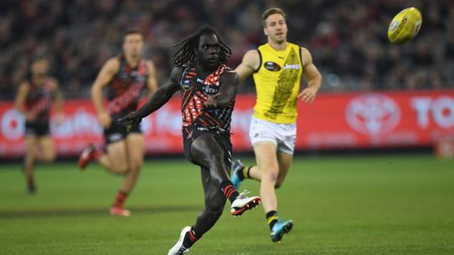 The 25-year-old was recruited by the Essendon Bombers in 2015. (AAP)