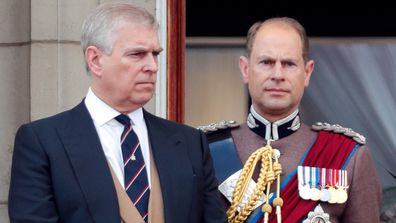 Prince Andrew (left) and Prince Edward.