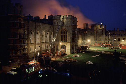 There was no sprinkler system installed in the castle. Picture: Getty