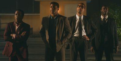 Leslie Odom Jr., Eli Goree, Kingsley Ben-Adir e Aldis Hodge estrelam One Night In Miami.