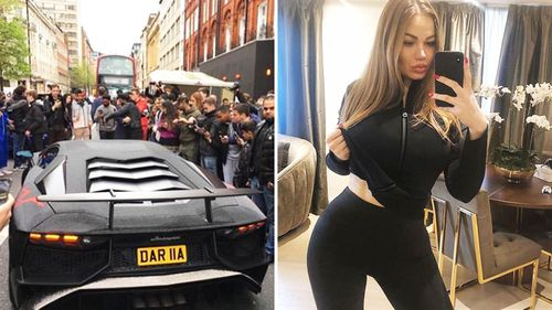 Instagram model Daria Radionova and her extravagantly decorated wheels.