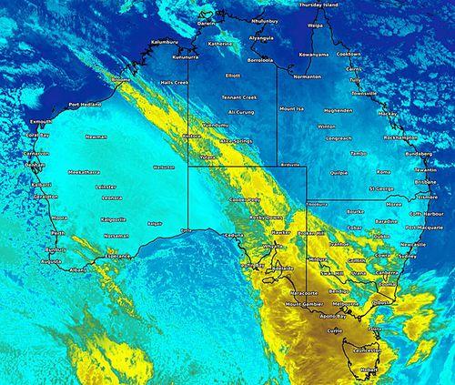 190612 Weather forecast Australia map cold front rain wind flooding News VIC SA Tasmania