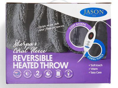 Jason Heated Throw Blanket (Charcoal Grey) — Big W